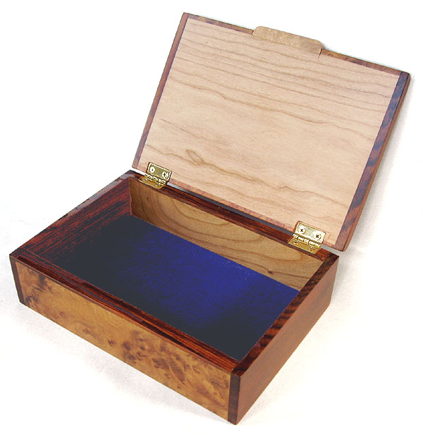 Decorative wood keepsake box or photo box  - open view