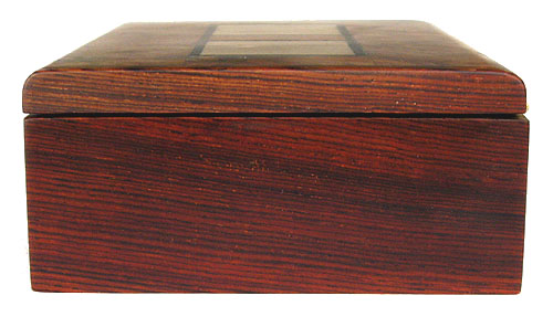 Cocobolo side view - Decorative handmade wood keepsake box