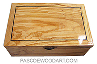 Handmade decorative wood keepsake box made of Mediterranean olive