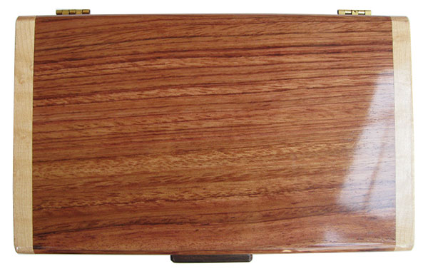 Bubinga box top - Handmade wood keepsake box
