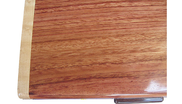 Bubinga box top close up - Handmade wood keepsake box