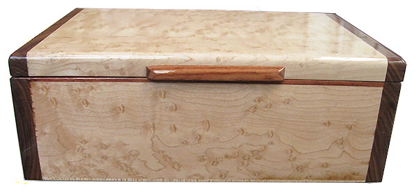 Birds eye maple box front - Handmade wood keepsake box