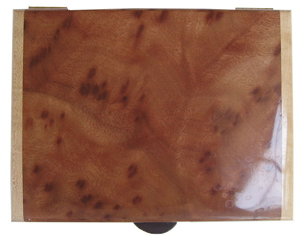 Camphor burl box top - Handmade wood keepsake box