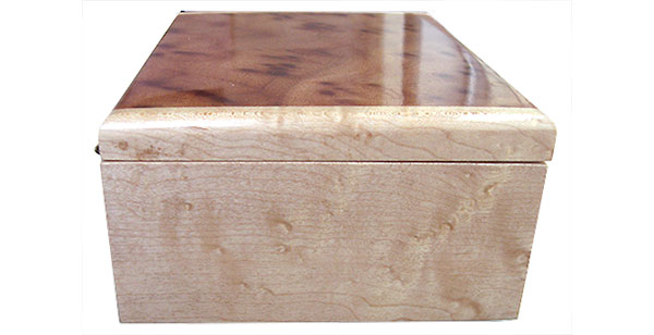 Birds eye maple box end - Handmade wood box