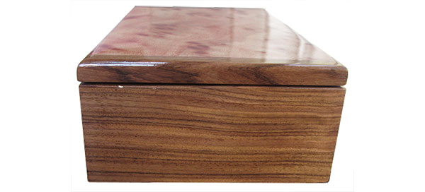 Bolivian rosewood box end - Handmade wood box