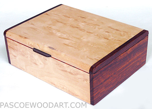 Decorative Keepsake Box Extraordinary Handmade Wood Keepsake Box  Karelian Birch Burl Cocobolo 2018