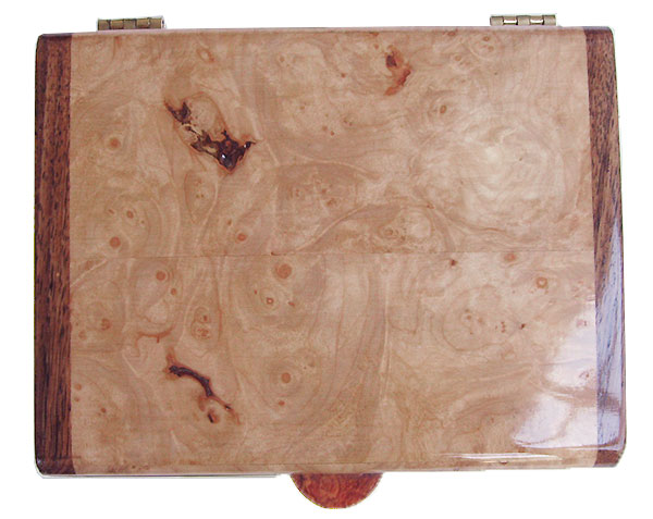Maple burl box top - Handmade wood keepsake box