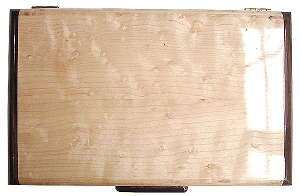 Birds eye maple box top - Handmade wood keepsake box