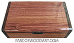 Handmade wood box - Keepsake box made of bubinga with ziricote ends