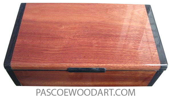 Handmade wood box - Keepsake box made of bloodwood with wenge ends