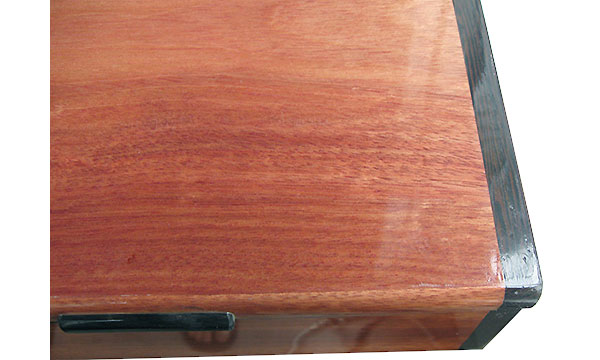 Bloodwood box top close up - Handmade wood box