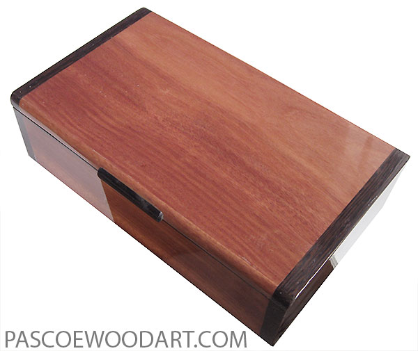 Handmade wood box - Keepsake box made o bloodwood with wenge ends