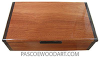 Handmade wood box - Keepsake box made of bloodwood with wenge ends.
