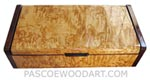 Handcrafted wood box - Decorative wood keepsake box made of masur birch with palisander ends