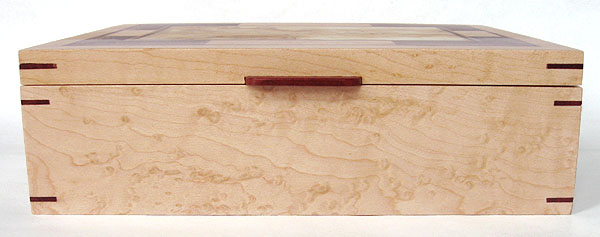 Bird's eye maple box side - Handmade decorative keepsake box