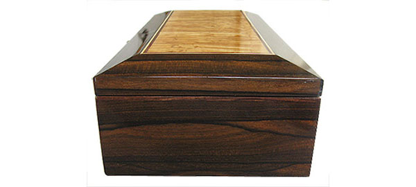 ZIricote box end - Handmade decorative wood keepsake box