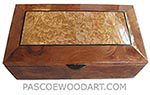 Handcrafted wood box - Decorative wood keepsake box made of camphor burl with maple burl framed in camphor burl top