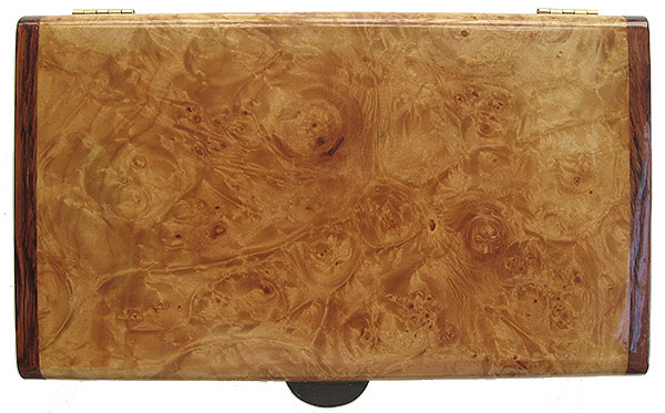 Maple burl box top - Handmade wood box - decorative keepsake box
