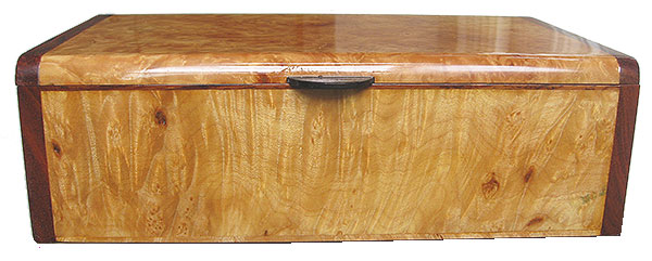 Maple burl box front - Handmade wood box - decorative keepsake box