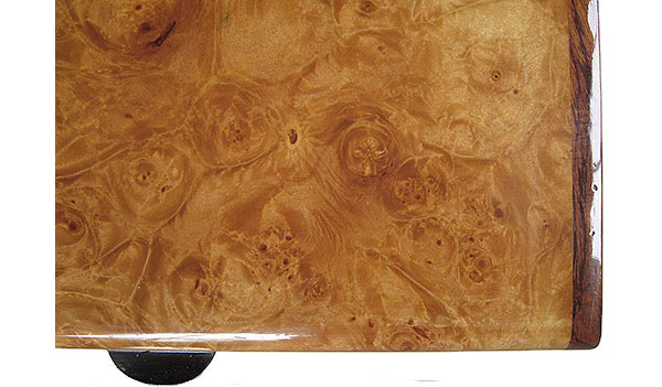 Maple burl box top close-up