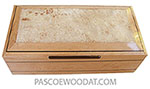Handcrafted wood box - Decorative wood keepsake box made of birds eye maple with maple burl center top