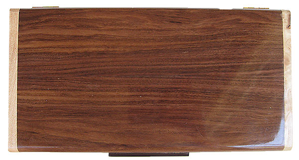 Honduras rosewood box top - Handmade wood decorative keepsake box