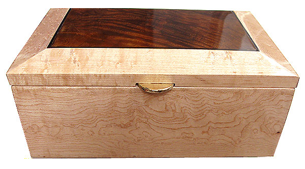 Birds eye maple box front - Handmade wood box - Decorative wood keepsake box
