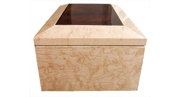 Birds eye maple box side - Handmade wood box - Decorative wood keepsake box