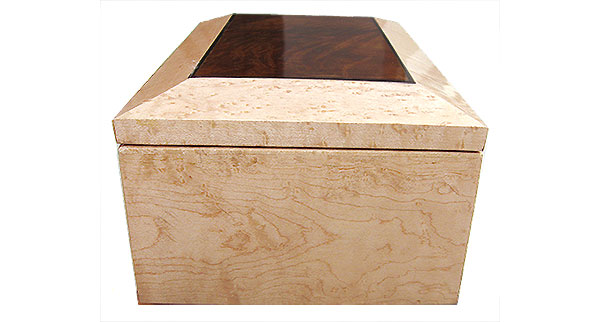 Birds eye maple box side - Handmade wood box