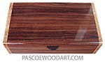 Handmade wood box - Decorative wood keepsake box made of Santos rosewood with maple burl ends