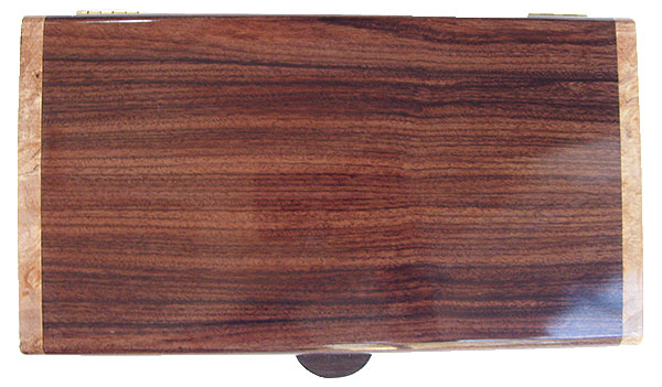 Santos rosewood box top - Handmade wood decorative keepsake box