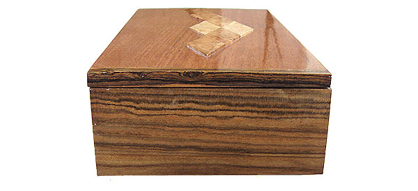 Bocote box end - Handmade decorative wood keepsake box