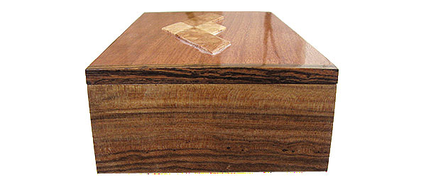 Bocote box end - Handmade wood decorative keepsake box