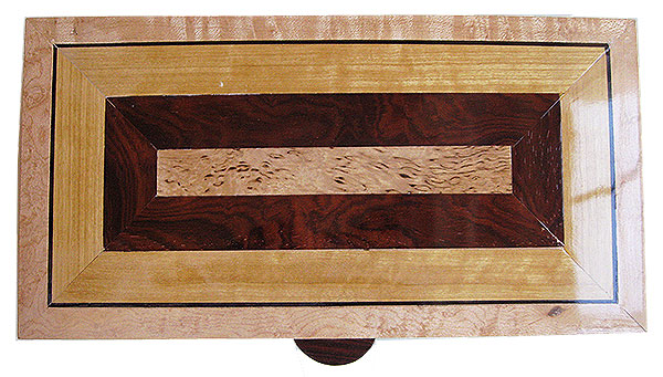 Mosaic top of handcrafted wood box  - Decorative wood keepsake box