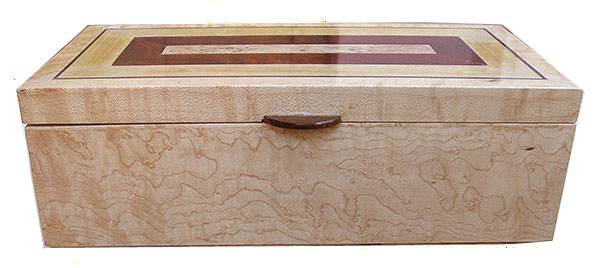 bird's eye maple box front - Decorative keepsake box