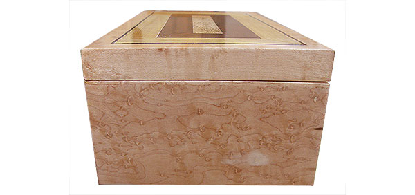 Bird's eye maple boxend - Handmade wood box