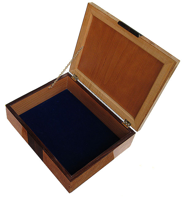 Handcrafted wood box -open view