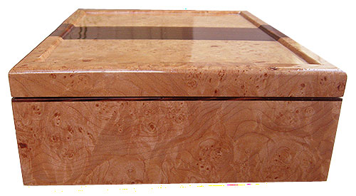 Maple burl box side - Handmade decorative wood box