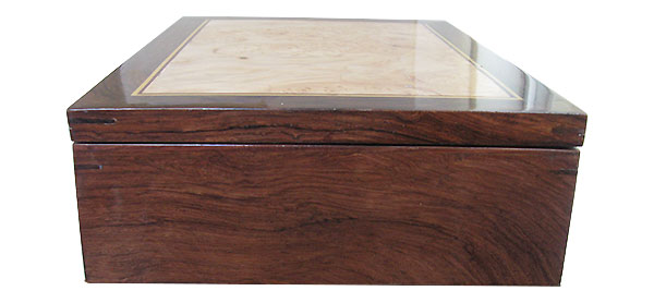 Madagascar rosewood box side - Handmade wood keepsake box