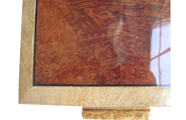 Redwood burl box top  close up - Handcrafted wood box