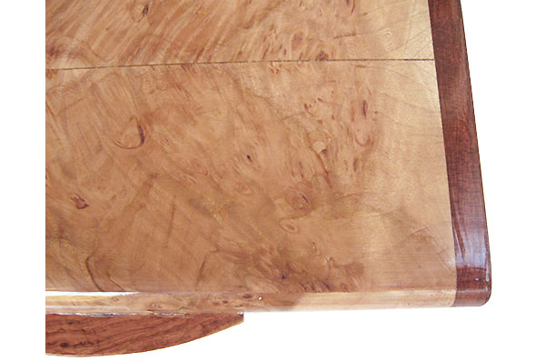 Maple burl box top close up - Handmade wood box