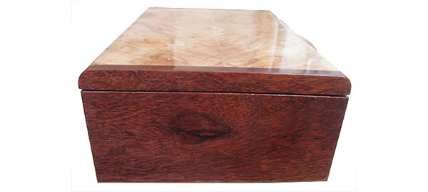 Bloodwood box end - Handmade wood box
