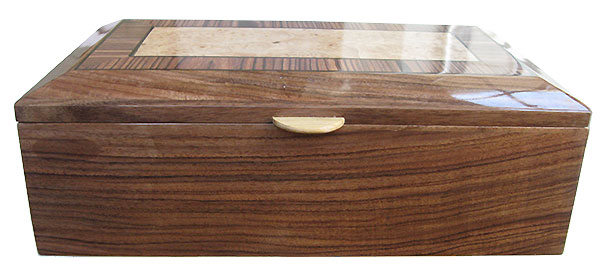 Santos rosewood box front - Handcrafted wood box