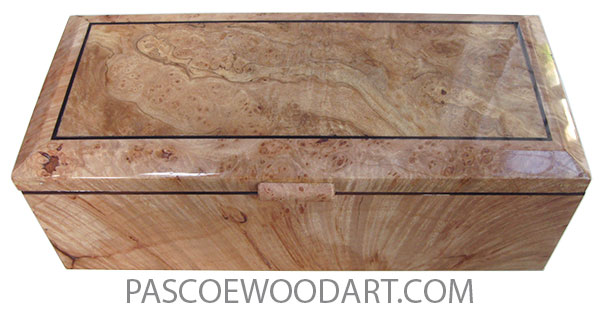 Handcrafted wood box- Keepsake box made of maple burl with spalted maple burl  centerbeveled top