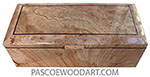 Handcrafted wood box - Keepsake Box made of maple burl with spalted maple burl center beveled top