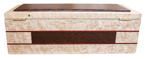 Handmade wood box - Decorative keepsake box - Back side