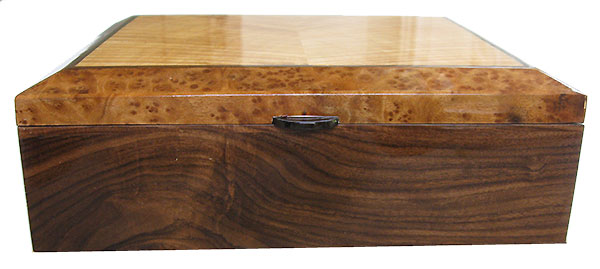 Santos rosewood box front - Handcrafted decorative wood keepsake box