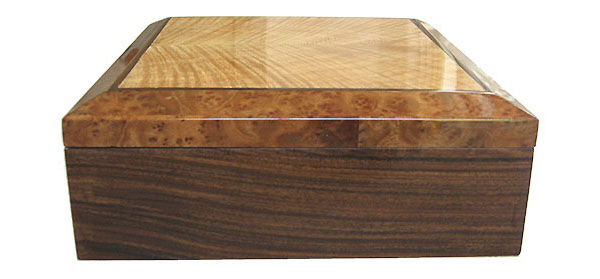 Santos rosewood box end - Handcrafted decorative wood keepsake box