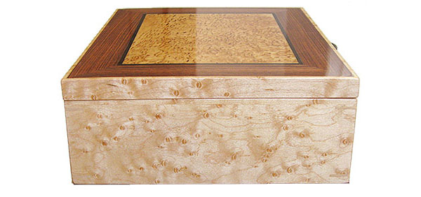 Bird's eye maple box end - Handcrafted decorative wood box
