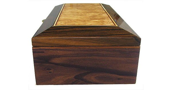 Ziricote box end - Handcrafted decorative wood keepsake box